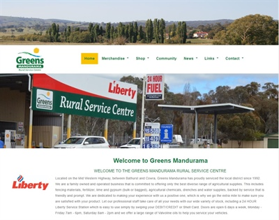 Greens Mandurama has had a Facelift to their website