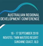 Three Weeks to go till Presentation at the Australian Regional Development Conference 2019