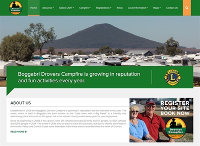 Drovers Campfire Website