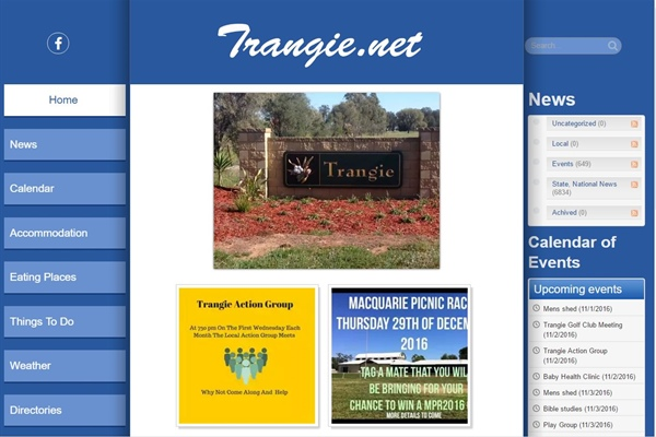 Trangie Town Website