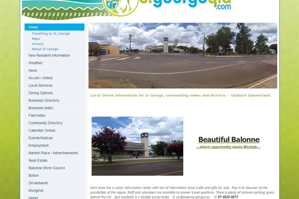 St George Town Website