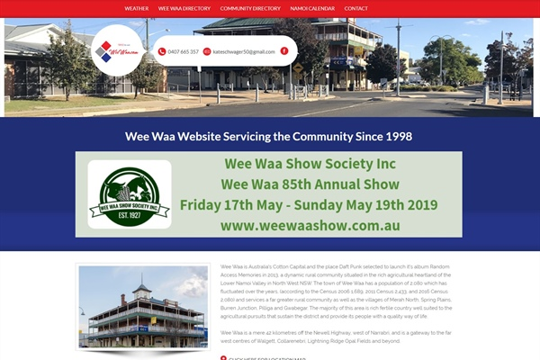 Wee Waa.com Town website